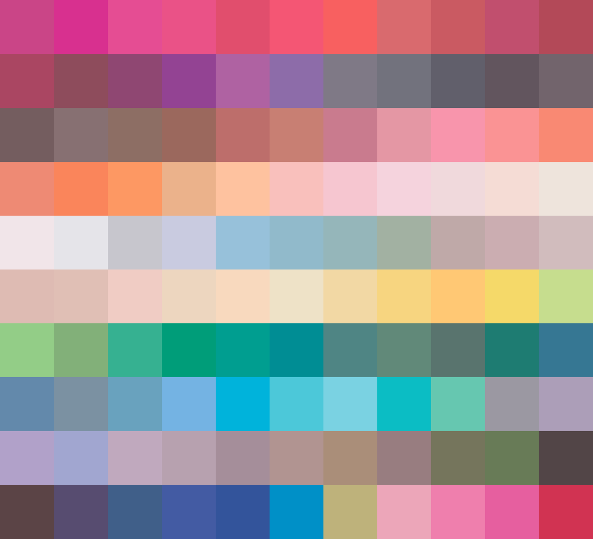 marker palette sorted by nearest next colro in CIECAM02 space